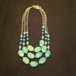 The Limited: Green multi-strand necklace
